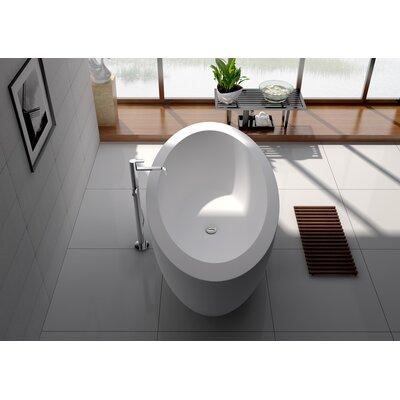 75 x 39.5 Freestanding Soaking Bathtub
