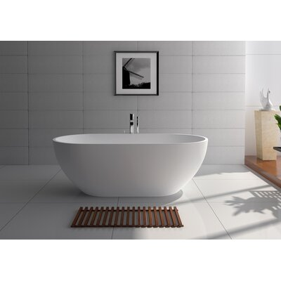 70 x 34.5 Freestanding Soaking Bathtub