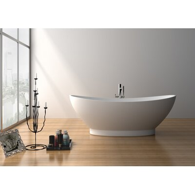 70.5 x 34.5 Freestanding Soaking Bathtub