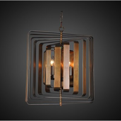 Jinie 4-Light Geometric Pendant