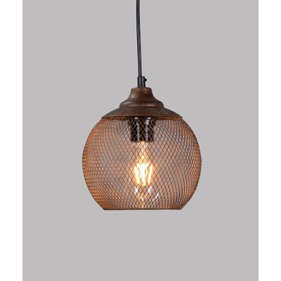 Roselyn 1-Light Globe Iron Pendant