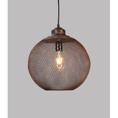 Roselyn 1-Light Globe Metal Pendant