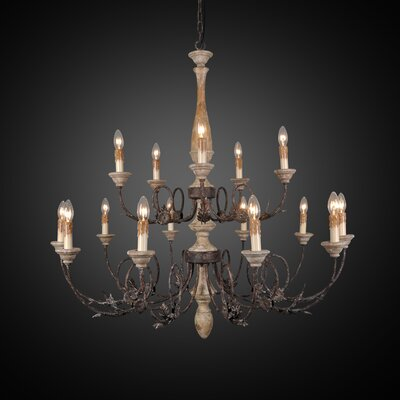 Bamard 15-Light Candle-Style Chandelier