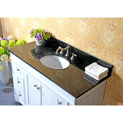 48 Single Bathroom Vanity Set Base Finish: Espresso, Top Finish: Egypt Beige Granite