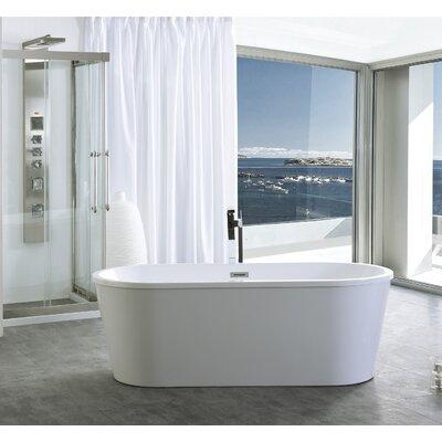 67 x 31.4 Freestanding Soaking Bathtub