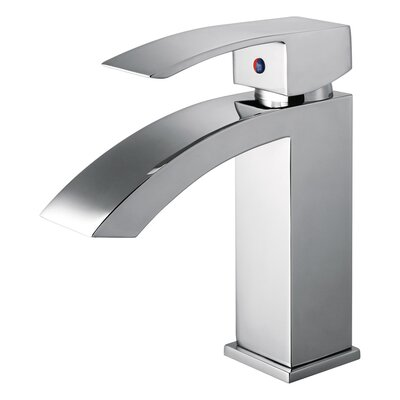 UPC Single Hole Single Handle Bathroom Faucet with Drain Assembly Finish: Polished Chrome