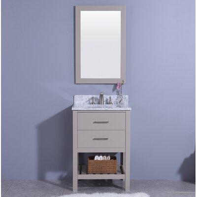 Marhill 25 Single Bathroom Vanity Set with Mirror Base Finish: Gray