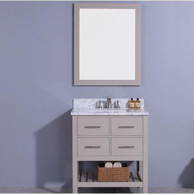 Rosemont 31 Single Bathroom Vanity Set with Mirror Base Finish: Gray