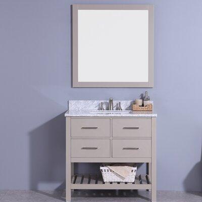 Alton 37 Single Bathroom Vanity Set with Mirror Base Finish: Gray