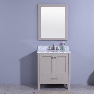 Meyers 31 Single Bathroom Vanity Set with Mirror Base Finish: Gray