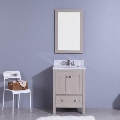 Blueridge 25 Single Bathroom Vanity Set with Mirror Base Finish: Gray