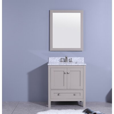 Bluff 31 Single Bathroom Vanity Set with Mirror Base Finish: Gray