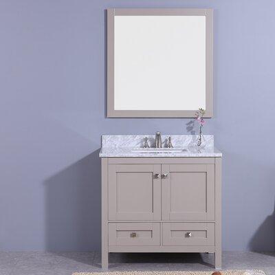 Bluffridge 37 Single Bathroom Vanity Set with Mirror Base Finish: Gray