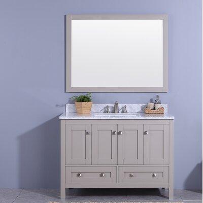 Midbury 49 Single Bathroom Vanity Set with Mirror Base Finish: Gray