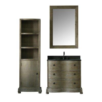Solid Elm 38 Single Bathroom Vanity Set with Mirror