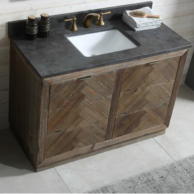 Sara Wood 48 Single Bathroom Vanity Set