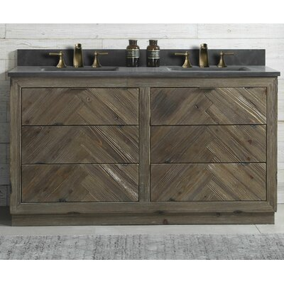 Hazel Wood 60 Double Bathroom Vanity Set