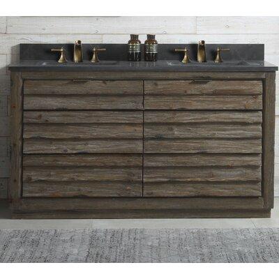 Docia Wood 60 Double Bathroom Vanity Set