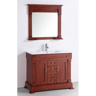 Legion Furniture Cermaic Top 40 Inch Single Sink Bathroom