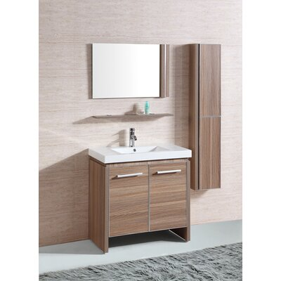 31 Sink Vanity Set with Mirror and Side Cabinet