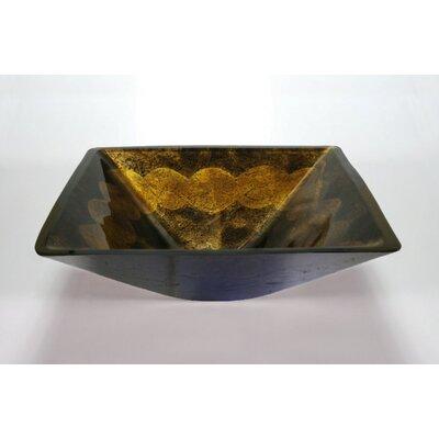 Square Vessel Bathroom Sink Sink Finish: Antique Gold