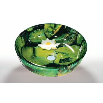 Circular Vessel Bathroom Sink Sink Finish: Lotus Pad