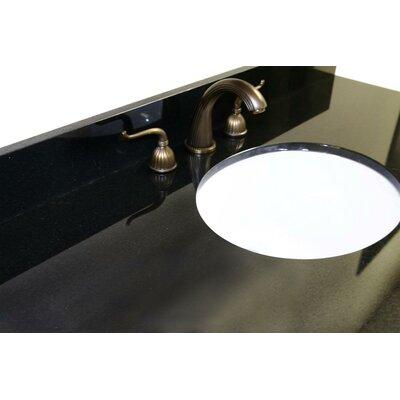 49 Single Bathroom Vanity Top Top Finish: Absolute Black