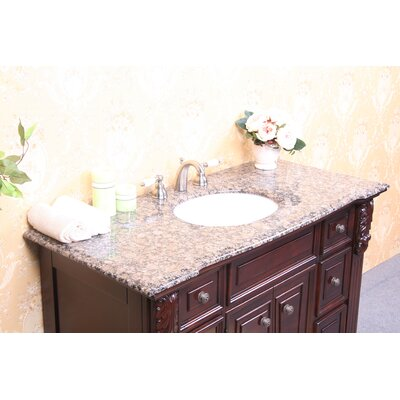 49 Single Bathroom Vanity Top Top Finish: Baltic Brown