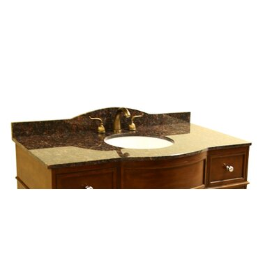 49 Single Bathroom Vanity Top Top Finish: Dark Tan Brown
