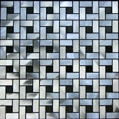 Random Sized Aluminum Metal Tile in Silver / Black
