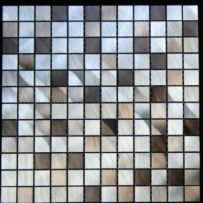 1 x 1 Aluminum Metal Tile in Multi-Color