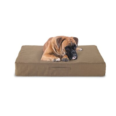 Memory Foam Dog Bed with Microfiber Cover Color: Taupe