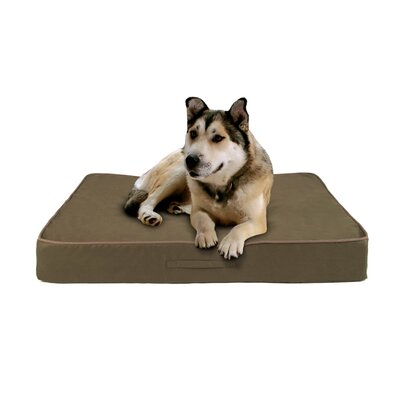 Luxury Memory Foam Dog Bed with Fleece Cover Size: Medium