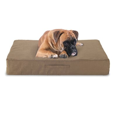 Gel Memory Foam Dog Bed with Microfiber Cover Color: Taupe