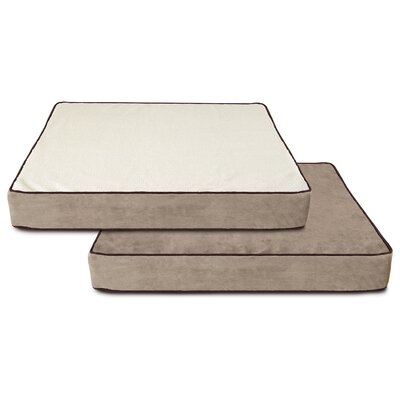 Tammy Memory Foam Dog Bed with Fleece Cover Size: Large