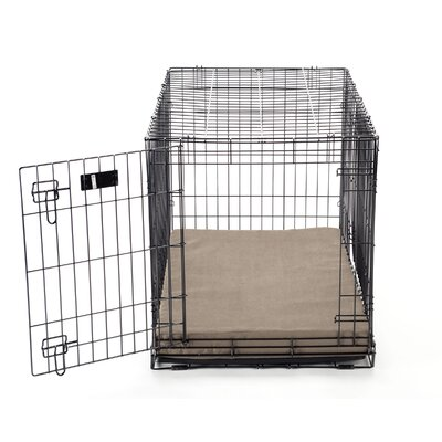 Luxury Memory Foam Dog Crate Pad with Suede Microfiber Cover Size: Large (40 L x 26 W)