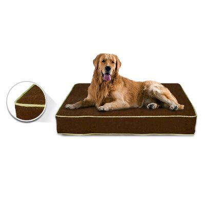 Luxury Memory Foam Dog Bed with Lux Designer Microfiber Cover Size: Medium (33 L x 22 W), Liner Color: Log Cabin