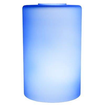 3.54 Glass Drum Pendant Shade Color: Blue