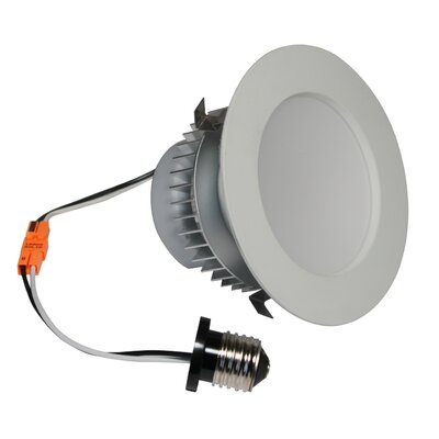 E-Pro 4 LED Recessed Retrofit Downlight Finish: White, Bulb: 3000 K