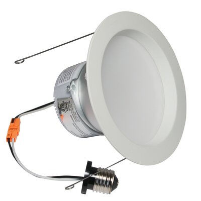 E-Pro 6 LED Recessed Retrofit Downlight Finish: White, Bulb: 3000 K 10 W LED