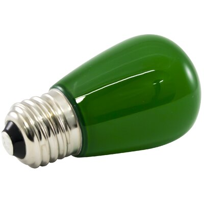 1.4W Green Frosted 120-Volt LED Light Bulb