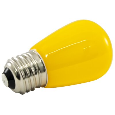 1.4W Yellow Frosted 120-Volt LED Light Bulb