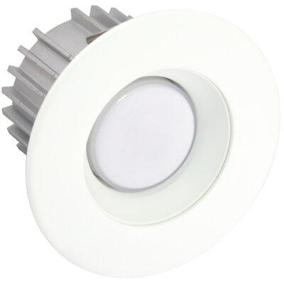 X34 4 LED Recessed Trim Finish: White