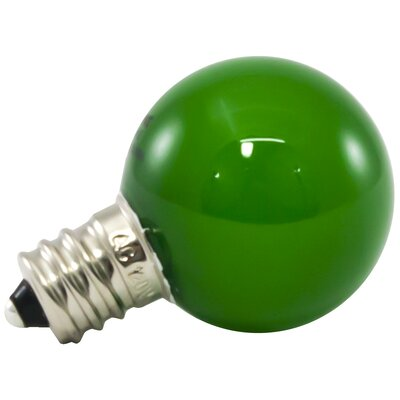 1W Green Frosted E12/Candelabra LED Light Bulb