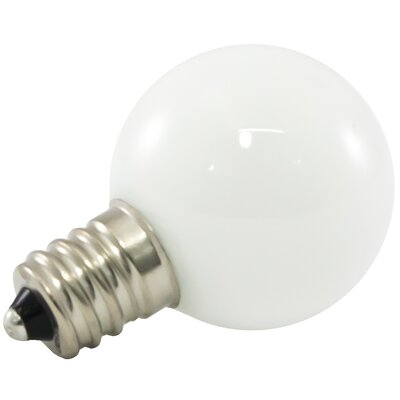 1W Frosted E12/Candelabra LED Light Bulb Bulb Temperature: 5500K