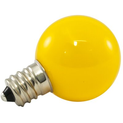 0.5W Yellow Frosted 120-Volt LED Light Bulb