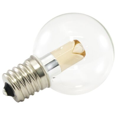 E26/Medium LED Light Bulb Bulb Temperature: 2700K, Wattage: 1W