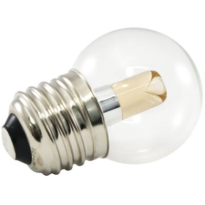 E26/Medium LED Light Bulb Wattage: 1.2W, Bulb Temperature: 2400K