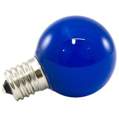 Blue Frosted 120-Volt LED Light Bulb Wattage: 1