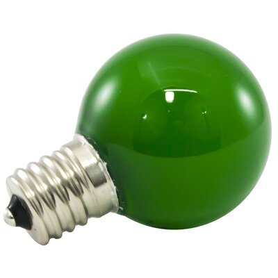 Green Frosted 120-Volt LED Light Bulb Wattage: 1